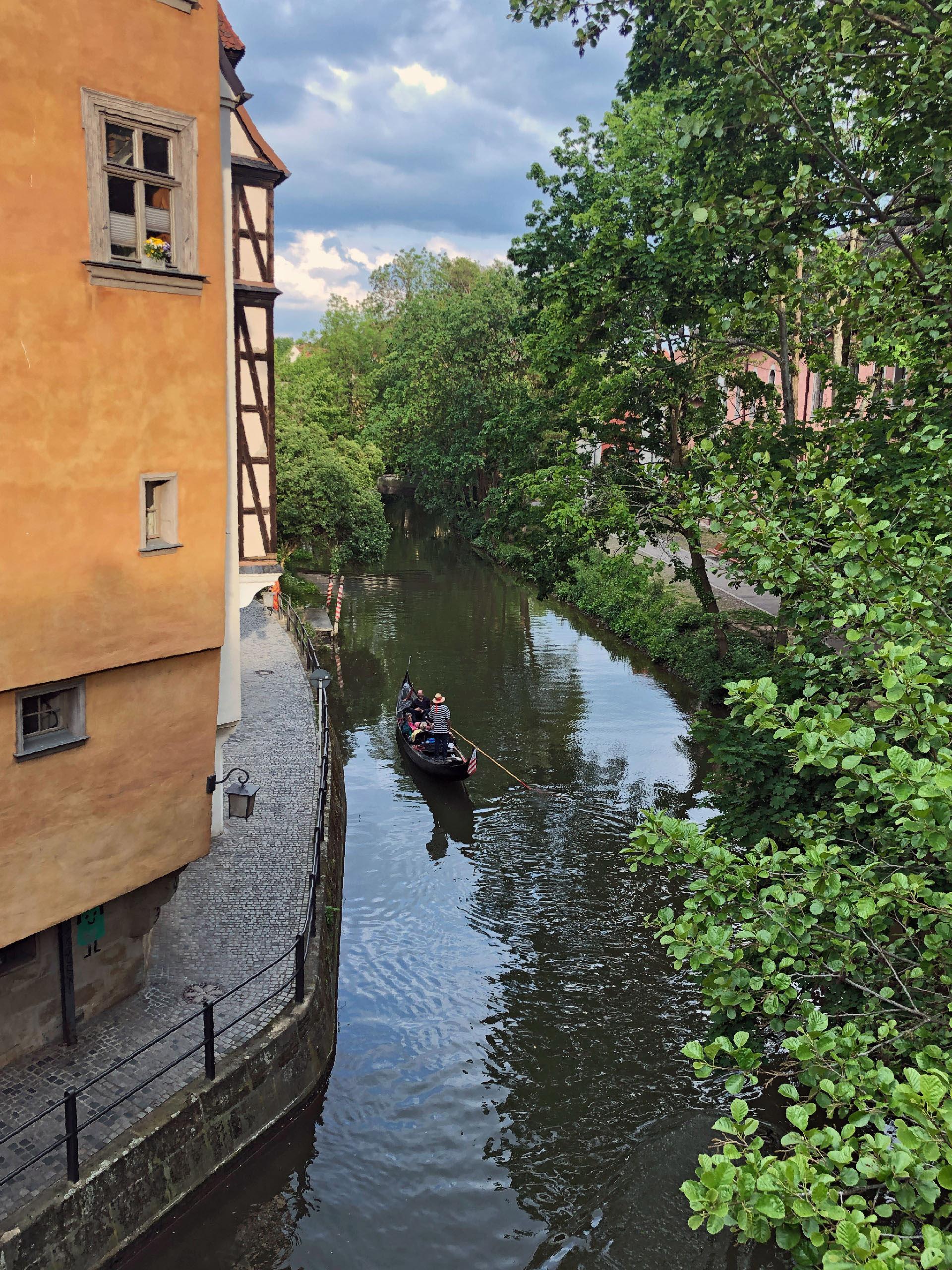Bamberg klein venedig gondelfahrt